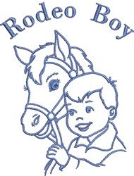Rodeo Boy embroidery design