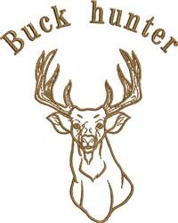 Buck Hunter embroidery design