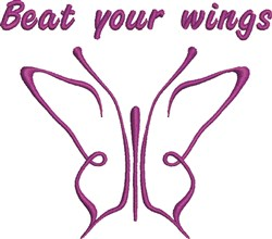 Beat Your Wings embroidery design