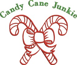 Candy Cane Junkie embroidery design