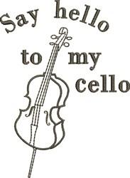 Hello To My Cello embroidery design