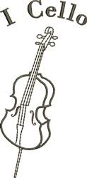 I Cello embroidery design