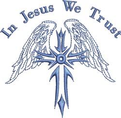 In Jesus We Trust embroidery design