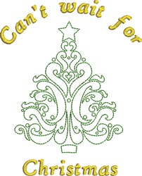 Cant Wait For Christmas embroidery design