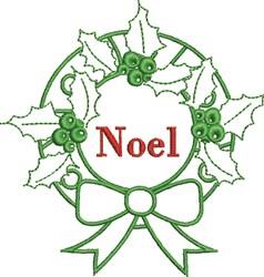 Noel Wreath embroidery design