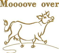 Moooove Over embroidery design
