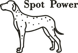Spot Power embroidery design