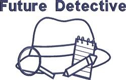 Future Detective embroidery design