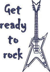 Get Ready To Rock embroidery design