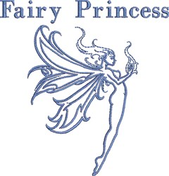 Fairy Princess embroidery design