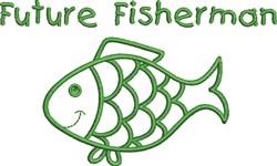 Future Fisherman embroidery design
