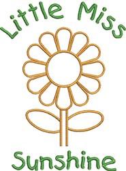 Little Miss Sunshine embroidery design