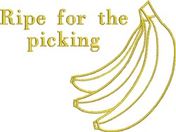 Ripe Bananas embroidery design
