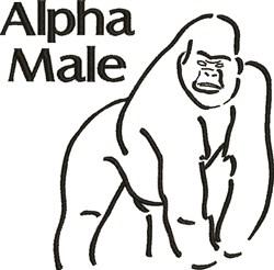 Alpha Male embroidery design