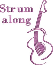 Strum Along embroidery design