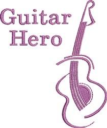 Guitar Hero embroidery design