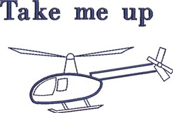 Take Me Up embroidery design