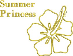 Summer Princess embroidery design