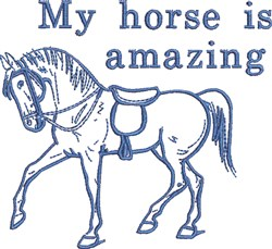 Horse Is Amazing embroidery design