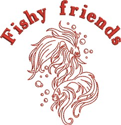 Fishy Friends embroidery design