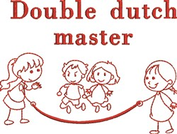 Double Dutch Master embroidery design