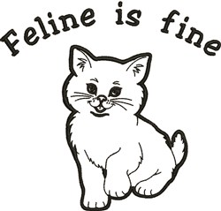 Feline Is Fine embroidery design