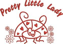 Pretty Little Lady embroidery design