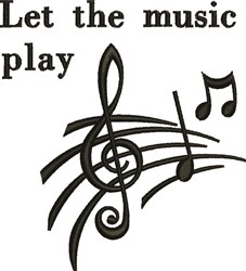 Let Music Play embroidery design