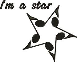 Im A Star embroidery design