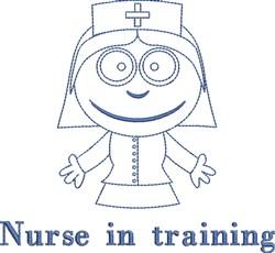 Nurse In Training embroidery design