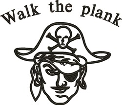 Walk The Plank embroidery design