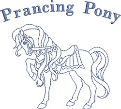 Prancing Pony embroidery design