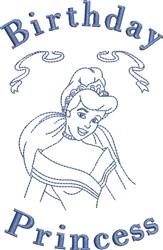 Birthday Princess embroidery design
