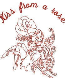 Kiss From Rose embroidery design