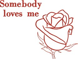 Somebody Loves Me embroidery design