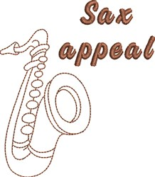 Sax Appeal embroidery design