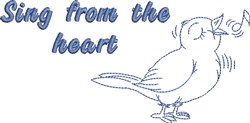 Sing From Heart embroidery design