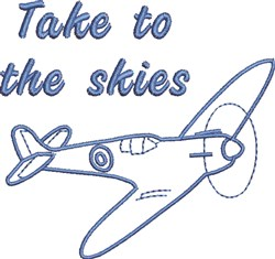 To The Skies embroidery design