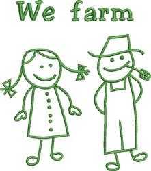 We Farm embroidery design