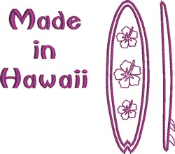 Made In Hawaii embroidery design