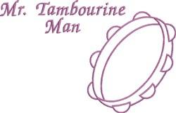 Mr Tambourine Man embroidery design