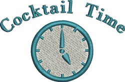 Cocktail Time embroidery design