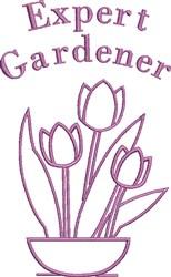 Expert Gardener embroidery design