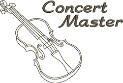 Concert Master embroidery design
