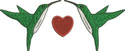 Love Hummingbirds embroidery design