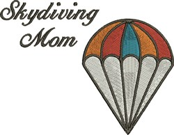 Skydiving Mom embroidery design