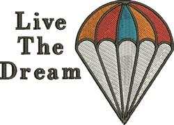Live The Dream embroidery design