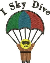 I Sky Dive embroidery design