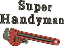 Super Handyman embroidery design