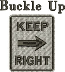 Buckle Up embroidery design
